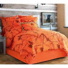 Orange Camo Bed Set Realtree Ap Orange Blaze Camouflage Bedding Set