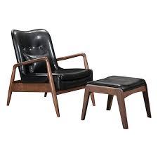 Lounge Chair Ottoman Bully Modern Lounge Chair Ottoman Black