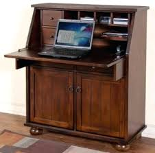 tall secretary desk with hutch desk solid wood secretary style computer armoire workstation desk