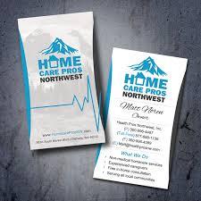 Medical Business Card Design Homecare Pros Nw Medical Business Card Design Outdoor
