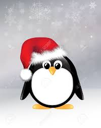 cartoon penguin on snowflake background royalty free cliparts
