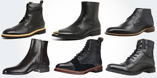 18 best black leather boots for men modern casual genuine