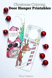 christmas coloring door hanger printables 36th avenue