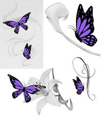 Small Butterfly Tattoos On - 25 best purple butterfly ideas on butterfly