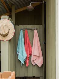 how to install an outdoor shower how tos diy