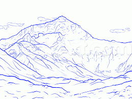 draw mount everest step by step drawing sheets added by
