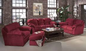 Transitional Living Room Furniture by Burgundy Fabric Transitional Living Room W Sewn On Arm Pillows