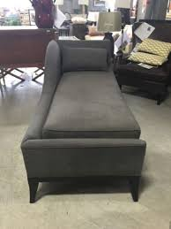 Horchow Chaise Swag Velvet Chaise Neiman Marcus Horchow Charcoal Polyester Velvet