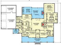 4 bed southern house plan with vaulted ceilings 56418sm