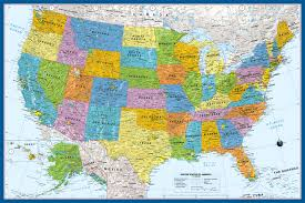political us map usa political map with states custom branded reference products