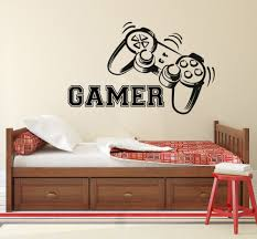 wall decal game controllers gaming vinyl sticker video game boy gamer wall decal game controllers gaming vinyl sticker video game boy room decor bedroom living room wall
