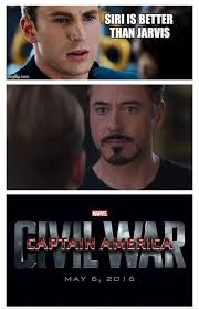 Civil War Meme - i love you steve but no jarvis rocks and i think peggy would