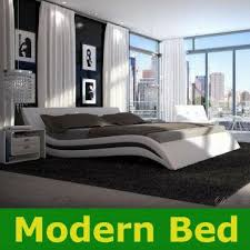 1 8m king twin size modern faux leather pu bed frame bedroom