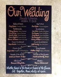 chalkboard wedding program template pin now to find later custom painted 20x30 wedding program