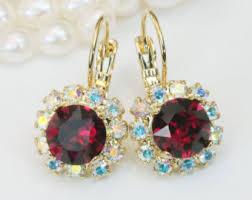 ruby drop earrings ruby drop earrings etsy