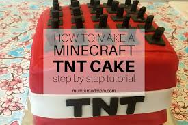 how to make a minecraft tnt cake mumturnedmom