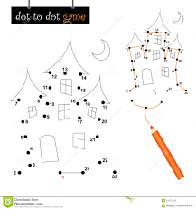 dot to dot game haunted house stock photography image 21475042