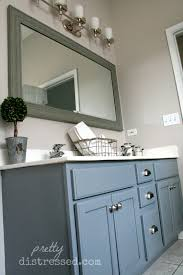 painting bathroom cabinets with chalk paint painted bathroom vanity how to paint your the easy way
