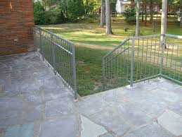 Exterior Stair Railing by Exterior Stair Railings Custom Metal Fences Custom Rail Tech