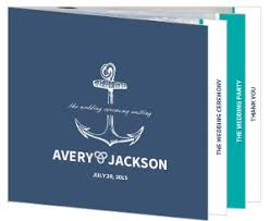 nautical wedding programs wedding programs wedding ceremony programs