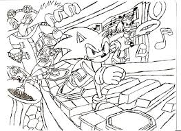 sonic x coloring coloring page