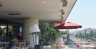 Restaurant Patio Heaters by Heatscope Spot 2800 Watt Outdoor Patio Space Infrared Heaters