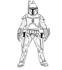 print easy boba fett star wars coloring pages download easy