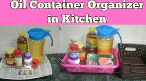 how to organise oil containers diy indian kitchen organization