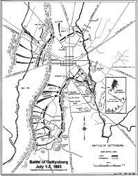 Blank Civil War Map by Pickett U0027s Charge Killed Total Dead Casualties Gettysburg Us