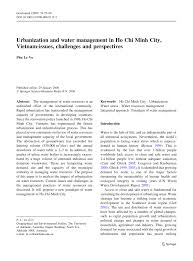 urbanization and water management in ho chi minh city vietnam