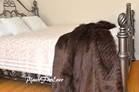brown shaggy premium faux fur throw lodge cabin grizzly