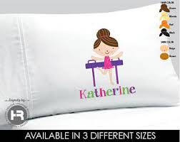 Personalized Girls Bedding by Gymnastic Bedding Etsy