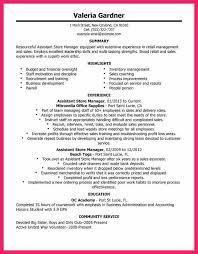 Retail Store Manager Job Description For Resume by Resume Retail Assistant Store Manager Contegri Com