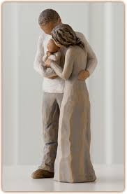 willow tree figurine we are three it used to be just you and me