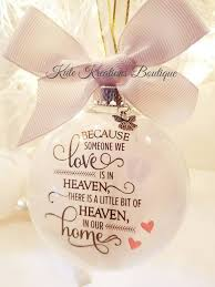 memorial ornament because someone we is in heaven baby