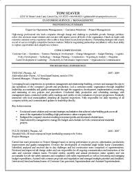 Operations Management Resume Project Manager Resume Example Resume Example And Free Resume Maker