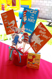 dr seuss party decorations dr seuss centerpiece getting ready for nathaniel s 2nd party