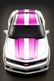 Black Mustang With Pink Stripes White With Pink Rally Stripes Camaro5 Chevy Camaro Forum