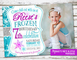 Unique Birthday Invitation Cards Frozen Birthday Invites Kawaiitheo Com