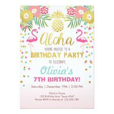 party invitation flamingo party invitation tropical birthday luau zazzle