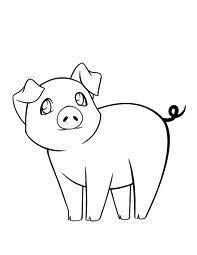 i decided to draw a pig for my friends story its not very good