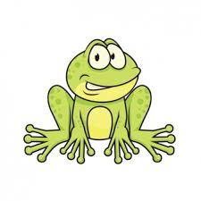 tribal frog top view design vector free