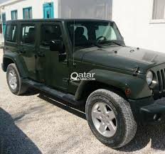 jeep unlimited green jeep wrangler unlimited sahara army green 4 doors qatar living