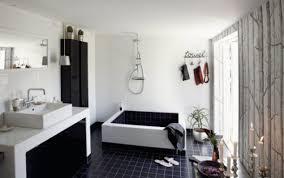 Huge Bathtub Cool Black And White Bathroom Design With A Huge Custom Made