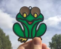 frog ornament etsy
