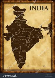 Old World Map Poster by Map India On Old Background Stock Illustration 90112060 Shutterstock