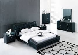 Black Leather Bedroom Furniture For Contemporary Bedroom Sets With - Modern white leather bedroom set