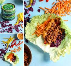 chili lime tuna napa cabbage wraps with cashew curry sauce u2022 fit