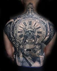 40 skull back designs for masculine ink ideas