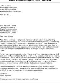 business development support cover letter
